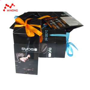 Custom manufacture rectangle folding gift paper box for bottle packing
