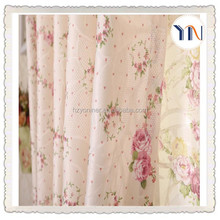 100% polyester curtain flower printed sheer fabric