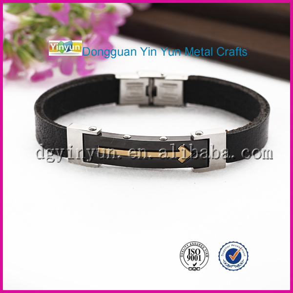 Fashion New Design Mens Leather Bracelet Fashion Custom Jewelry Accessory
