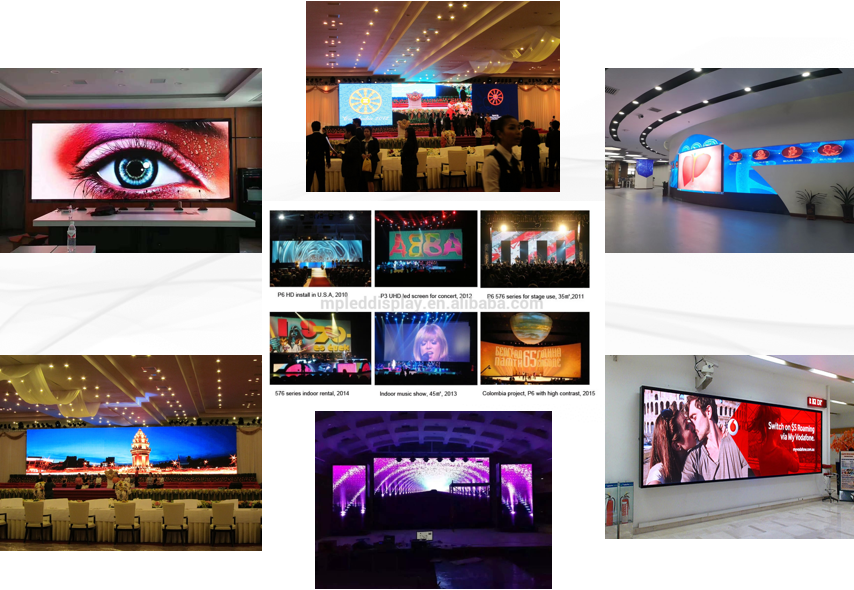 Indoor  P3 New design High Quality Refresh Fasten Assembling LED Screen