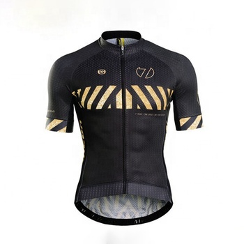 2016 Monton Bike Wear Black Gold Custom Sublimated Classic Cycling Jersey