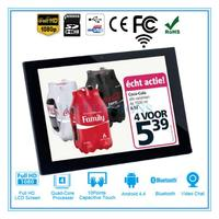Custom recycled a4 china digital photo frame with clock for kits