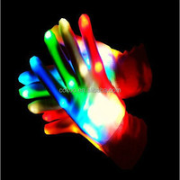 new design cheapest price, hot sales led finger light gloves led lighting party gloves