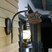 E27 Lamp holder LED light outdoor glass and iron wall sconce