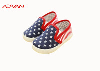 latest design wholesale children casual shoes for girl slip on canvas shoes