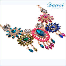 multicolor acrylic flower necklace jewlery in yiwu