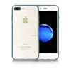 Wholesale mobile phone pc+tpu clear crystal case for Ip7g