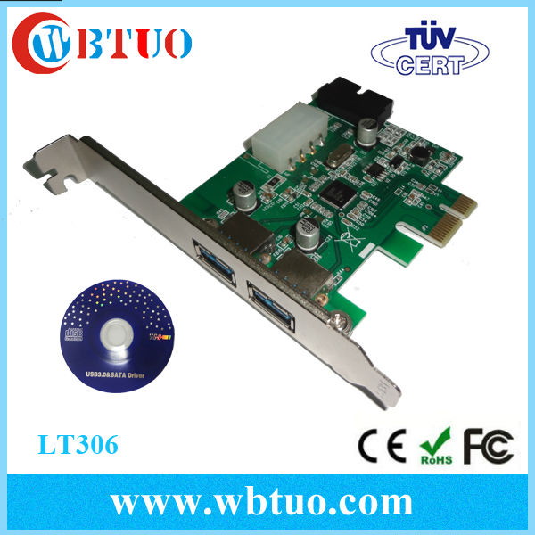 2 Serial Port PCIe Card,external pci express slot usb3.0 adapter card