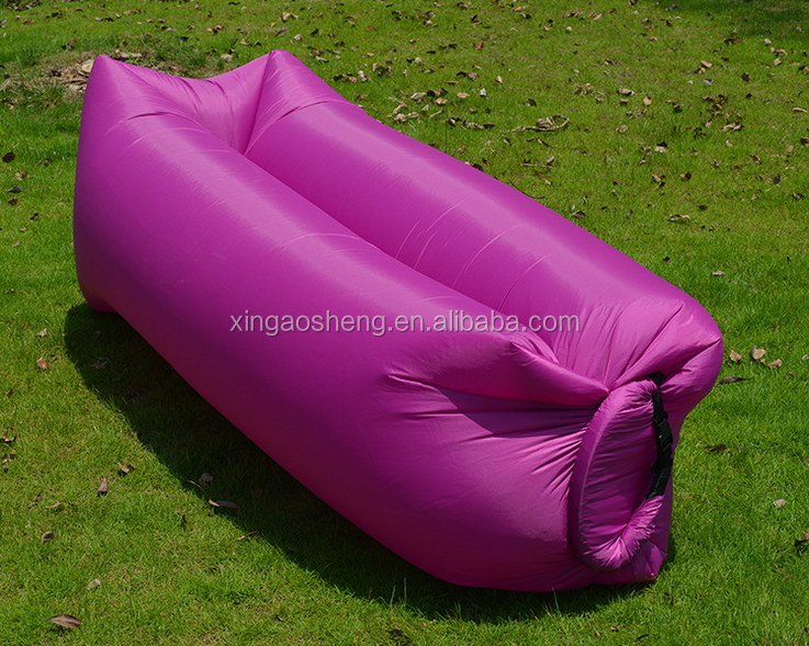 2016 hot selling Inflatable laybag Banana Sleeping Bag Camping Outdoor Bed Beach Sofa
