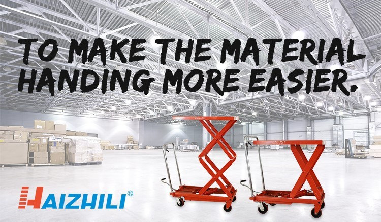 Small 300KG Hand pallet lifting cart manual industrial scissor lift tables for warehouse