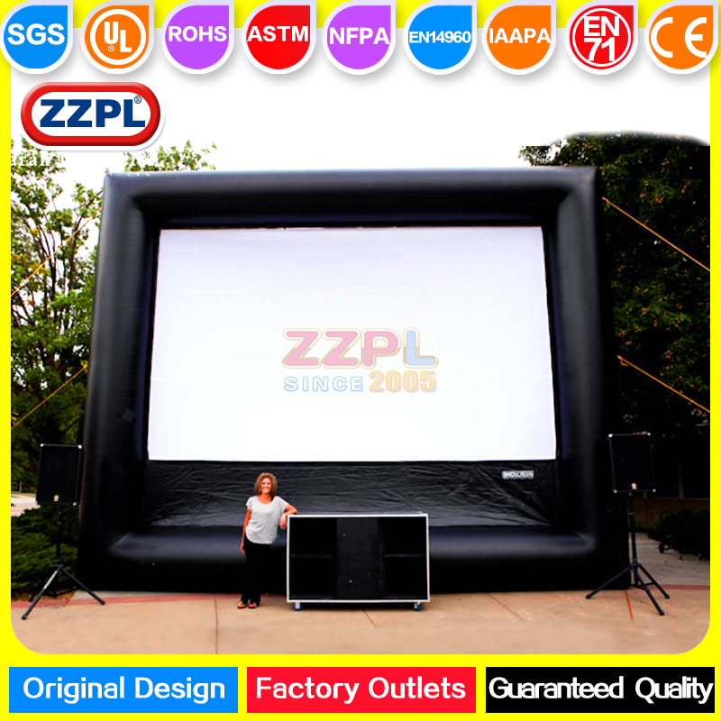 ZZPL Giant inflatable air screen for commercial Advertising inflatable movie screen for sale Outdoor inflatable screen for event