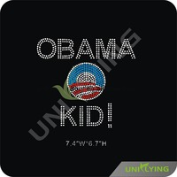 Obama Kid Rhinestones Heat Transfer Design