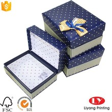 handmade fancy flat gift packaging book like boxes with ribbon