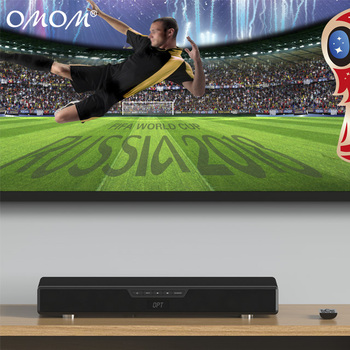 OHM-4009B Soundbase Bluetooth Enabled Home Theater Speaker with Built-In Subwoofer & Remote for Movies, Gaming, Music Streaming