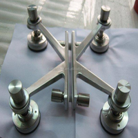 curtain wall stainless steel railing glass clamps fitting