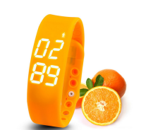 Silicone Healthy Smart Watch Bracelet for iPhone/Android