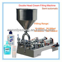Double head Piston Cream Filling Machine,cream filler 50-500ml