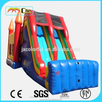 CILE Popular Commercial Inflatable Air Bed Castle Bouncer with Dounble Lane Slide for Publicity