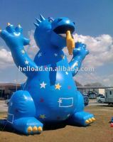 Inflatable blue dragon