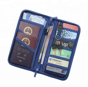 Promotional Travel Passport Holder Business Card Holder Bag / Ticket Cash Wallet