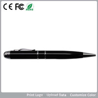 promotional gift laser pen drive usb 2gb , 2gb metal black pen shape usb key , stainless steel OEM usb pen style 2gb