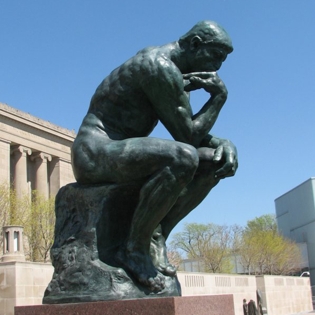 Bronze thinker statue BS2025L