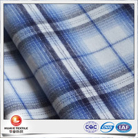 cotton tencel yarn dyed plaid flannel fabric for men's shirt