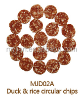 duck & rice circular chips Dog treats and pet Food snacks