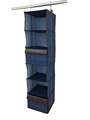 Imitation Jeans 6 shelf hanging sweater organizer with 2 drawer multifunctional storage