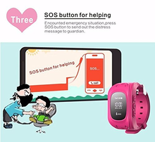 kids GPS tracker smart watch Q50 with GSM SOS calling function for children kids watch