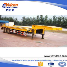Manufacturer cheap 3 axle low bed semi trailer dimensions