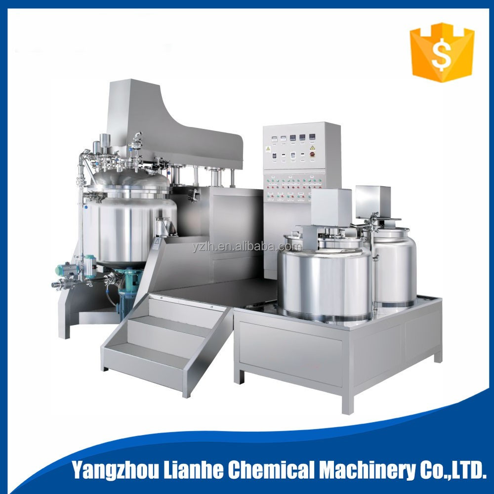 Tilting Hand Cream Ointment Vacuum Blending Making Machine