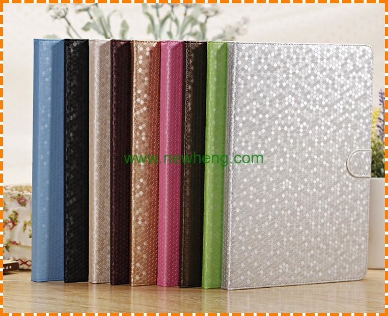 Wholesale Diamond Pattern Flip Stand Leather Case For Ipad air 2