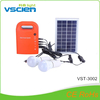 Vsicen Portable complete solar system kit led lamp charged by solar panel for rural lighting