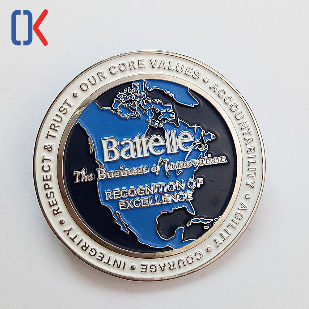 High grade good quality custom souvenir metal medal 3D challenge coin