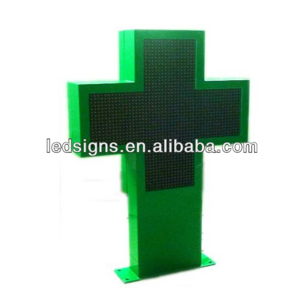 hidly programmable shining animated video cross led display sign