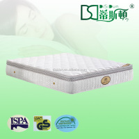 Rollable queen size luxury pillow top pocket spring compress mattress