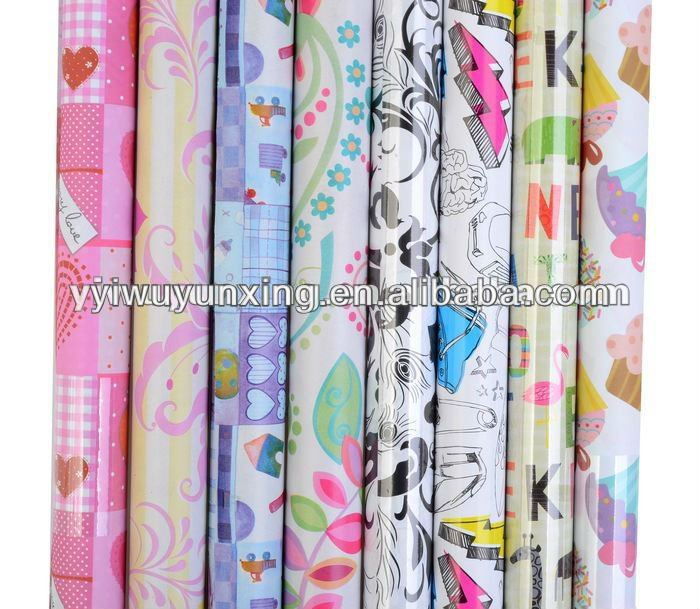 2013 Fancy Everyday Design Printed Gift Wrapping Paper Roll
