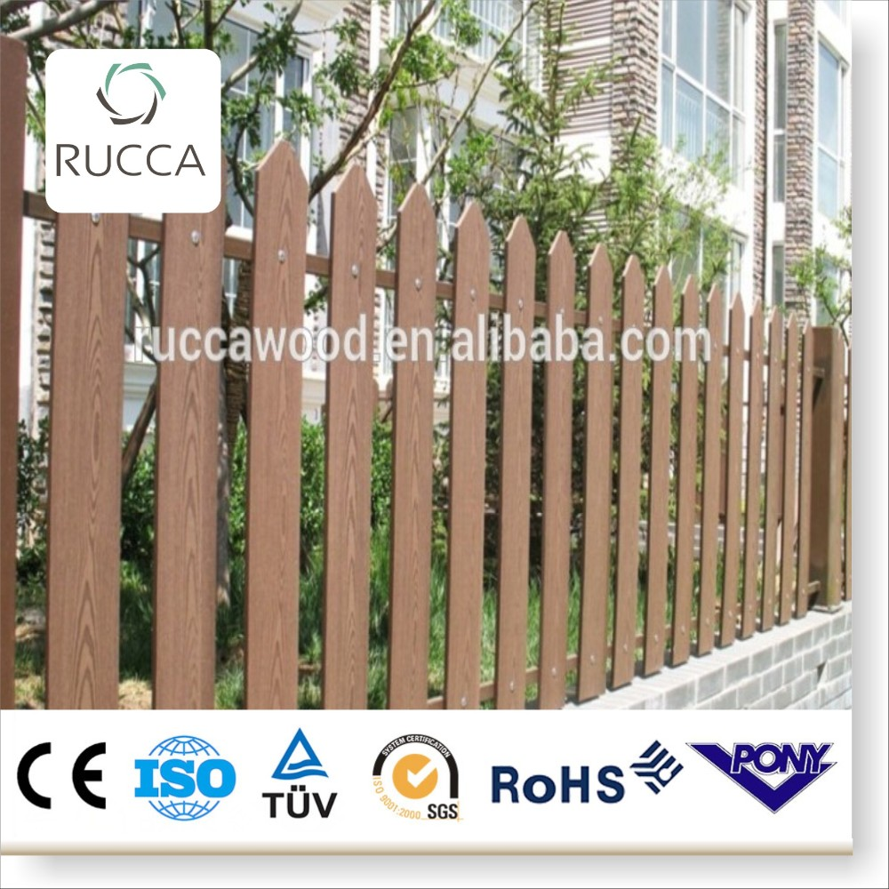 2016 WPC wood garden fence price from Foshan China factory directly sale