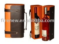 Faux Leather PU Wine Bottle Carrier Box (NEW)