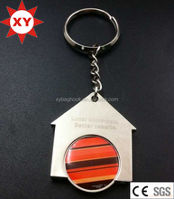 House shape metal trolley token coin