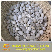 Chinese White Polished landscape pebble stone cheap for sale