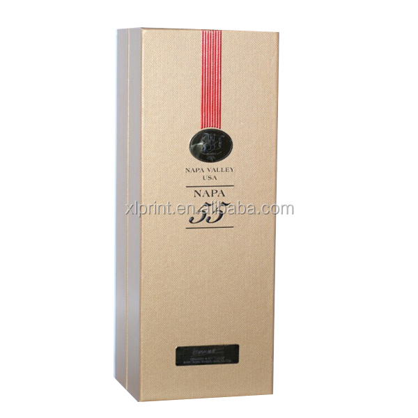 2014 One Bottle Wine Glass Box Paperboard Wine Case