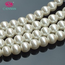 Pujiang crystal glass beads manufacturer glass pearl beads with high quality