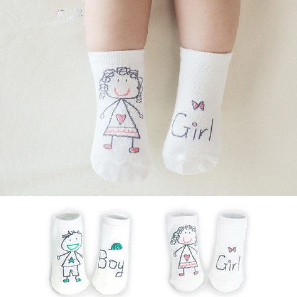 MS60288K AB side fashion Korean baby kids design digital printed socks