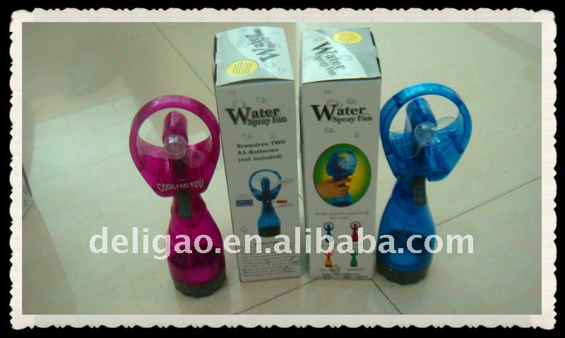 Pocket lovely fan with water spray for attractive promotion
