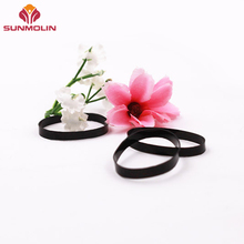 Black eco-friendly wear proof tpu hair elastic rubebr band