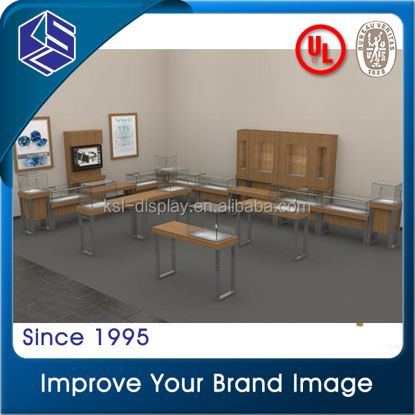 Jewellery showroom designs used glass display cases shop equipment