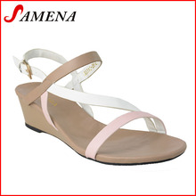 China factory hotsale low heel ladies sandals womens shoes