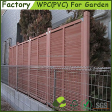 Decorative WPC Wood Plastic Composite Garden Fence Panel